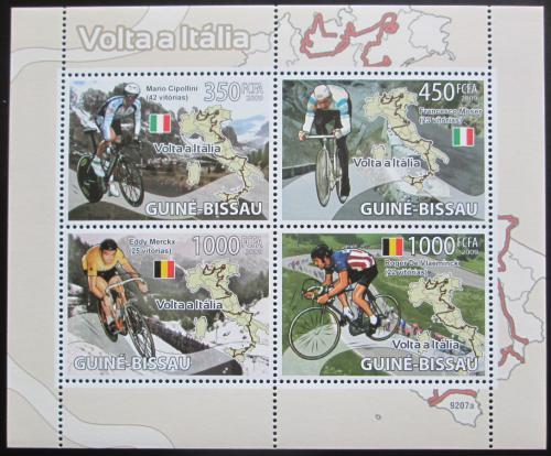 Poštovní známky Guinea-Bissau 2009 Cyklistika Mi# 4086-89 Bogen Kat 11€