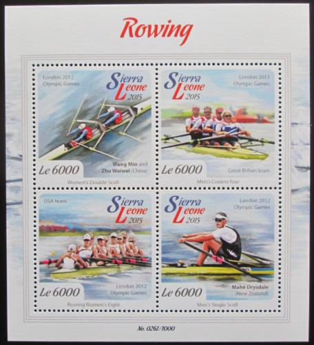 Poštovní známky Sierra Leone 2015 Veslování Mi# 6748-51 Kat 11€