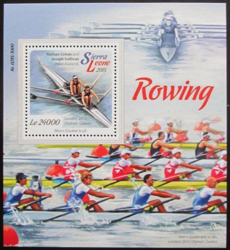 Poštovní známka Sierra Leone 2015 Veslování Mi# Block 882 Kat 11€