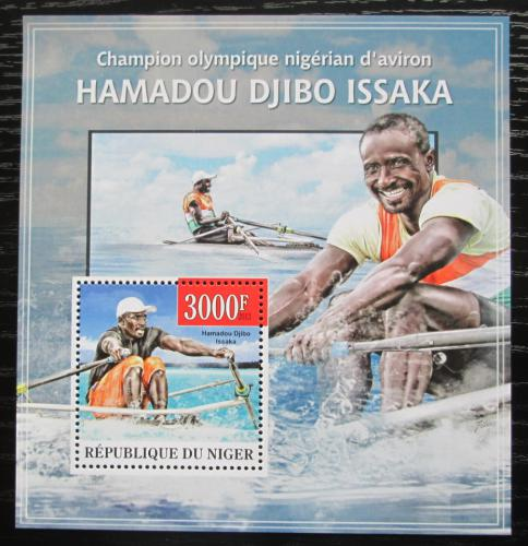 Poštovní známka Niger 2013 Hamadou Djibo Issaka, veslování Mi# Block 194 Kat 12€