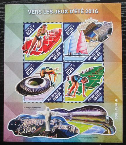 Poštovní známky Niger 2015 LOH Rio de Janeiro Mi# 3952-55 Kat 13€