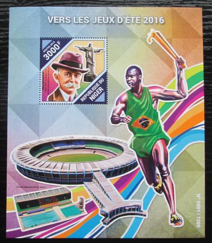 Poštovní známky Niger 2015 LOH Rio de Janeiro Mi# Block 495 Kat 11€