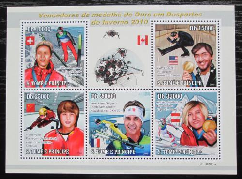 Poštovní známky Svatý Tomáš 2010 ZOH Vancouver Mi# 4418-22 Kat 11€
