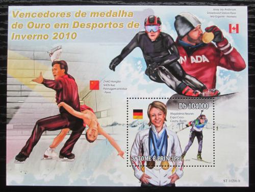 Poštovní známka Svatý Tomáš 2010 ZOH Vancouver Mi# Block 761 Kat 10€