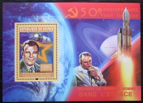 Poštovní známka Guinea 2011 Jurij Gagarin Mi# Block 1966 Kat 18€