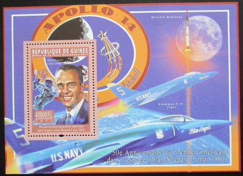 Poštovní známka Guinea 2011 Alan Shepard, Apollo 14 Mi# Block 1964 Kat 16€