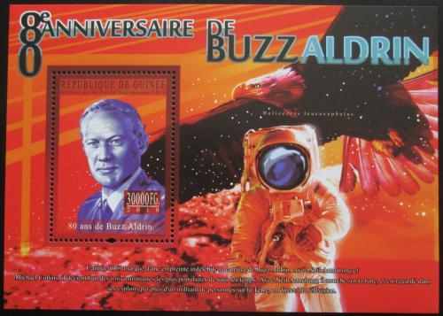 Poštovní známka Guinea 2010 Buzz Aldrin Mi# Block 1860 Kat 10€