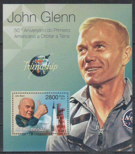 Poštovní známka Guinea-Bissau 2012 John Glenn Mi# Block 1039 Kat 11€