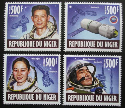 Poštovní známky Niger 2013 Èínský vesmírný projekt Shenzhou 10 Mi# 2401-04 Kat 8€