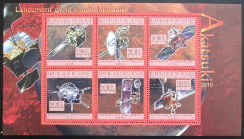 Poštovní známky Guinea 2010 Japonská vesmírná sonda Akatsuki Mi# 7634-39 Kat 12€