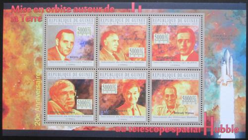 Poštovní známky Guinea 2010 Edwin Hubble, Hubbleùv teleskop Mi# 7613-18 Kat 12€