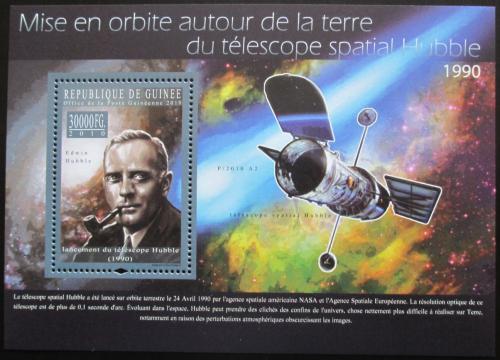 Poštovní známka Guinea 2010 Edwin Hubble, Hubbleùv teleskop Mi# Bl 1839 Kat 10€