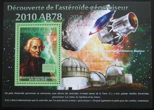 Poštovní známka Guinea 2010 Objevitelé asteroidù - Giuseppe Piazzi Mi# Block 1843 Kat 10€