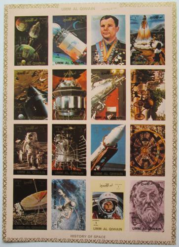 Poštovní známky Umm al-Kuvajn 1972 Prúzkum vesmíru neperf. Mi# 1066-81 B Kat 25€