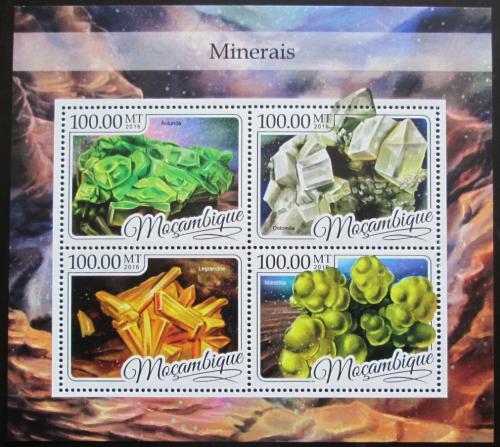 Poštovní známky Mosambik 2016 Minerály Mi# 8739-42 Kat 22€