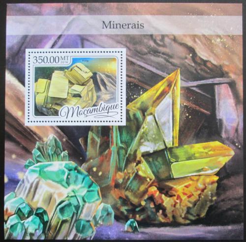 Poštovní známka Mosambik 2016 Minerály Mi# Block 1188 Kat 20€
