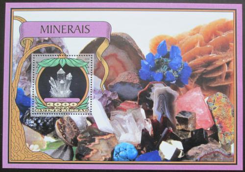 Poštovní známka Guinea-Bissau 2016 Minerály Mi# Block 1530 Kat 11€