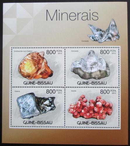 Poštovní známky Guinea-Bissau 2012 Minerály Mi# 5927-30 Kat 13€
