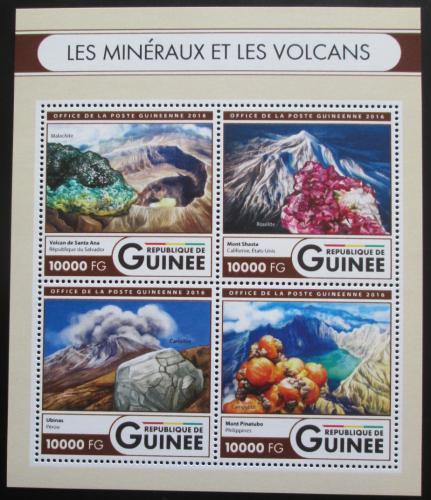 Poštovní známky Guinea 2016 Sopky a minerály Mi# 11906-09 Kat 16€