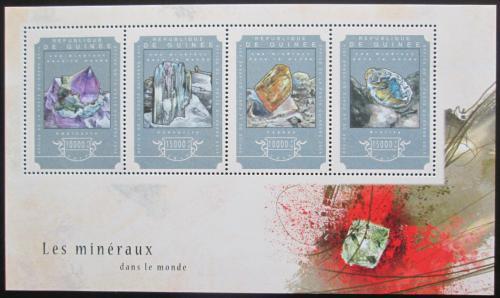 Poštovní známky Guinea 2014 Minerály Mi# 10782-85 Kat 20€