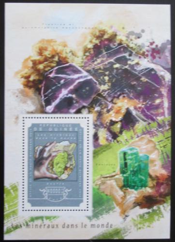 Poštovní známka Guinea 2014 Minerály Mi# Block 2452 Kat 16€