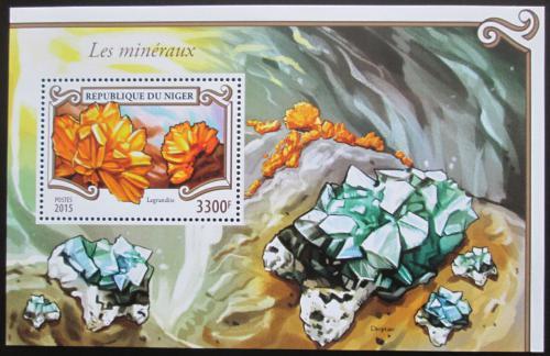 Poštovní známka Niger 2015 Minerály Mi# Block 465 Kat 13€
