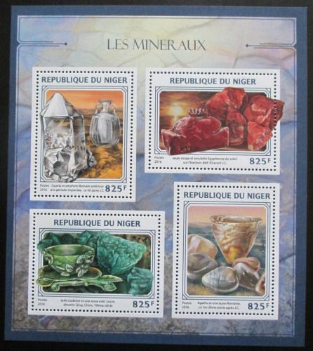 Poštovní známky Niger 2016 Minerály Mi# 4412-15 Kat 13€