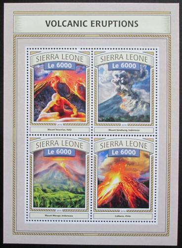 Poštovní známky Sierra Leone 2016 Sopeèné erupce Mi# 7783-86 Kat 11€