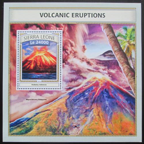 Poštovní známka Sierra Leone 2016 Sopeèné erupce Mi# Block 1089 Kat 11€