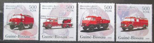 Poštovní známky Guinea-Bissau 2006 Hasièská auta Mi# 3354-57 Kat 8€