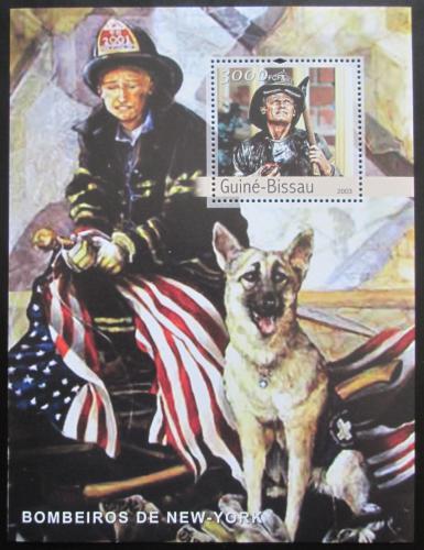 Poštovní známka Guinea-Bissau 2003 Hasièi z New Yorku Mi# Block 418 Kat 12€