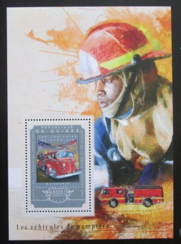 Poštovní známka Guinea 2014 Hasièská auta Mi# Block 2474 Kat 16€