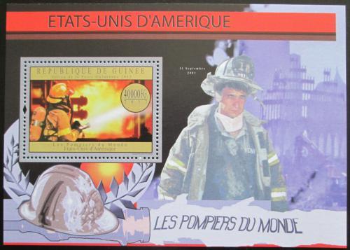 Poštovní známka Guinea 2012 Ameriètí hasièi Mi# Block 2173 Kat 16€