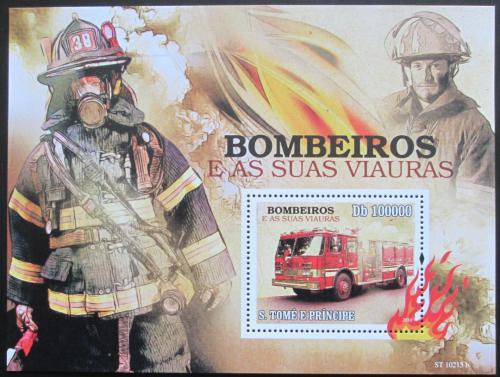 Poštovní známka Svatý Tomáš 2010 Hasièi Mi# Block 763 Kat 10€