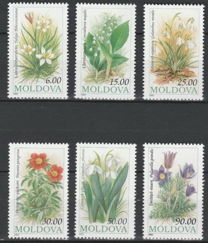 Poštovní známky Moldavsko 1993 Kvìtiny Mi# 81-86