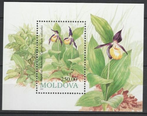 Poštovní známka Moldavsko 1993 Kvìtiny Mi# Block 4
