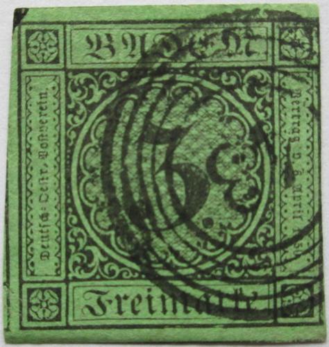 Poštovní známka Bádensko 1853 Nominální hodnota Mi# 6 Kat 10€