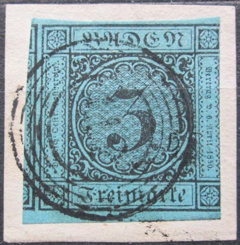 Poštovní známka Bádensko 1858 Nominální hodnota Mi# 8 Kat 40€