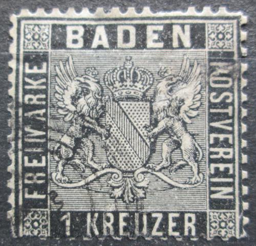 Poštovní známka Bádensko 1860 Znak Bádenska Mi# 9 Kat 30€