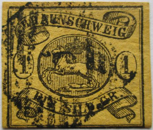 Poštovní známka Brunšvik 1861 Znak Brunšviku Mi# 11 Kat 70€