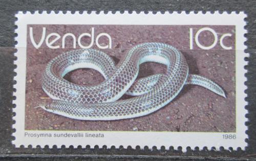 Poštovní známka Venda, JAR 1986 Prosymna sundevallii lineata Mi# 129