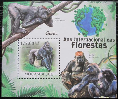 Poštovní známka Mosambik 2011 Gorila východní nížinná Mi# Block 432 Kat 10€