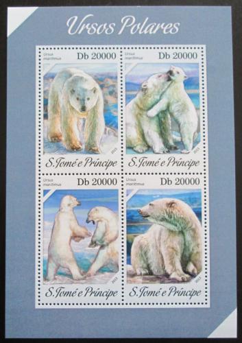 Poštovní známky Svatý Tomáš 2013 Medvìd lední Mi# 5391-94 Kat 8€