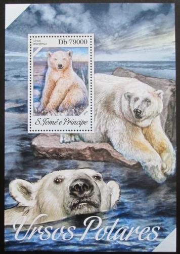 Poštovní známka Svatý Tomáš 2013 Medvìd lední Mi# Block 938 Kat 8€