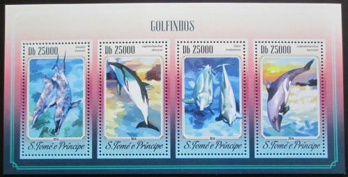 Poštovní známky Svatý Tomáš 2014 Delfíni Mi# 5910-13 Kat 10€
