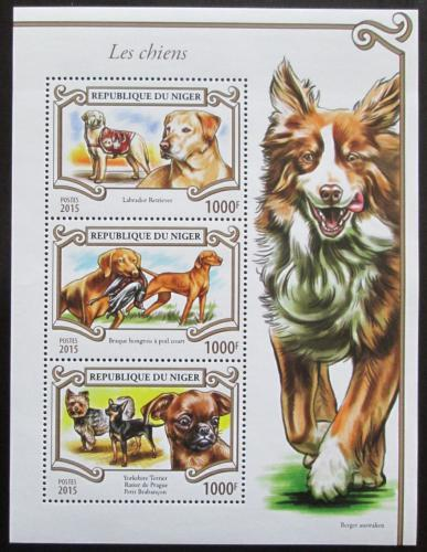 Poštovní známky Niger 2015 Psi Mi# 3538-40 Kat 12€