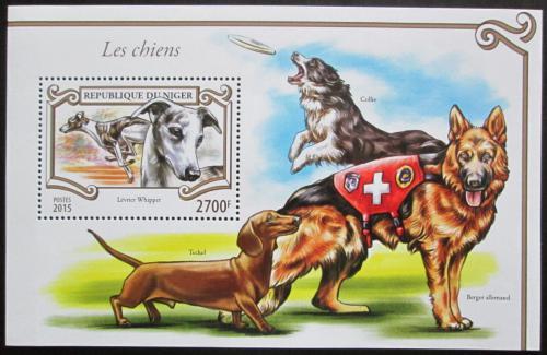 Poštovní známka Niger 2015 Psi Mi# Block 452 Kat 11€