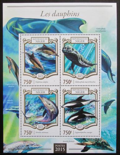 Poštovní známky Niger 2015 Delfíni Mi# 3300-03 Kat 12€