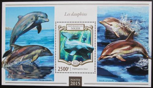 Poštovní známka Niger 2015 Delfíni Mi# Block 404 Kat 10€