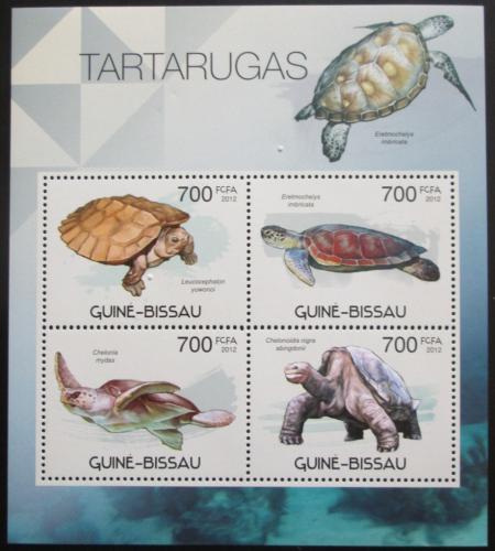 Poštovní známky Guinea-Bissau 2012 Želvy Mi# 5892-95 Kat 11€